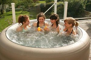 the grand rapids inflatable hot tub and spa is very portable and easy to set up